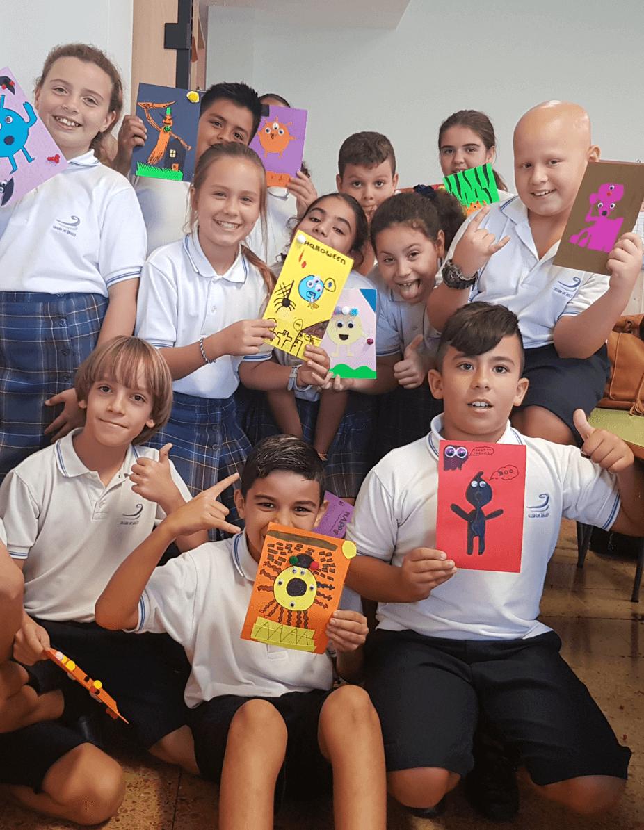 niños con dibujos
